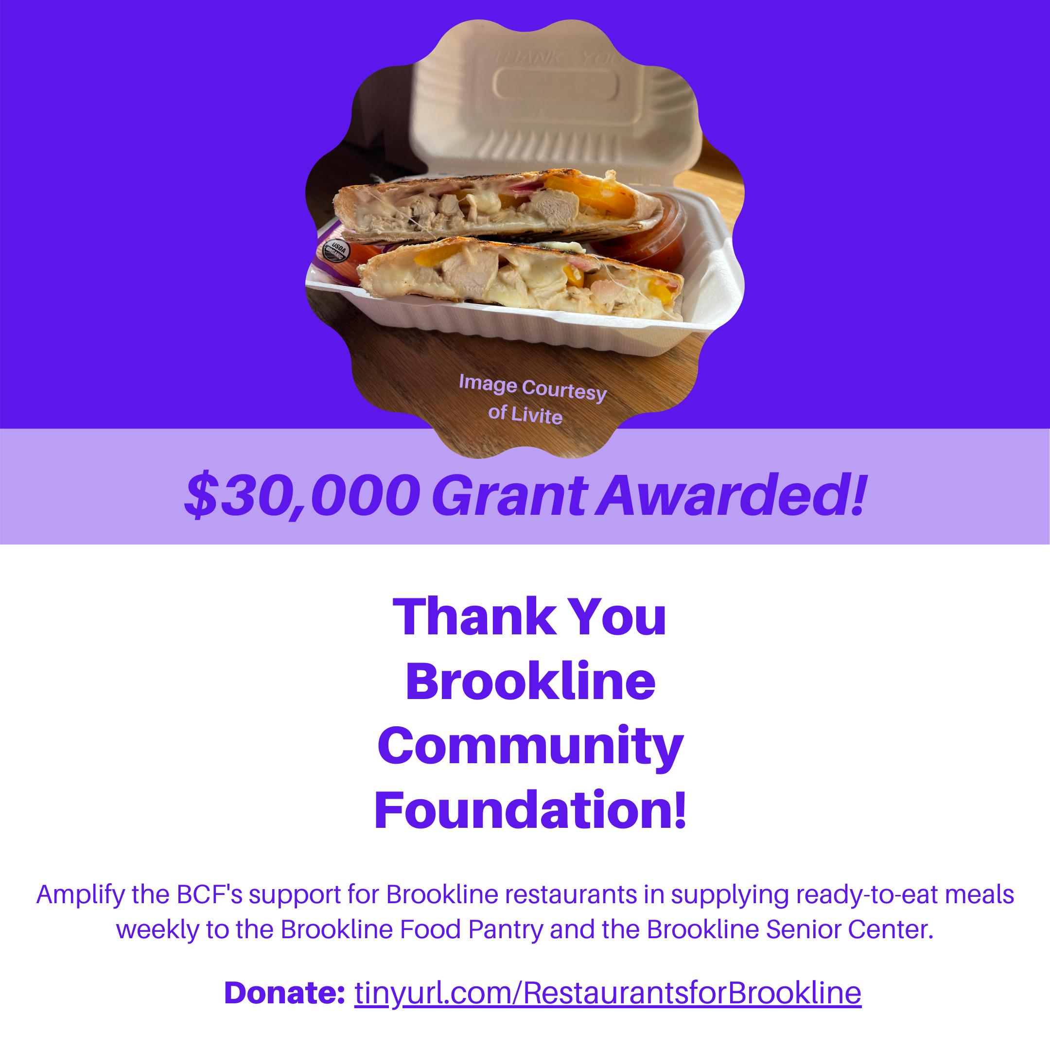 Donate to Restaurants for Brookline