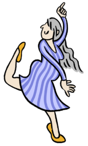 Dancing lady illustration