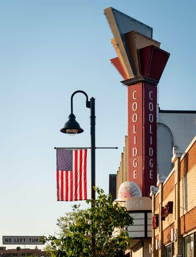 Brookline street Coolidge Corner